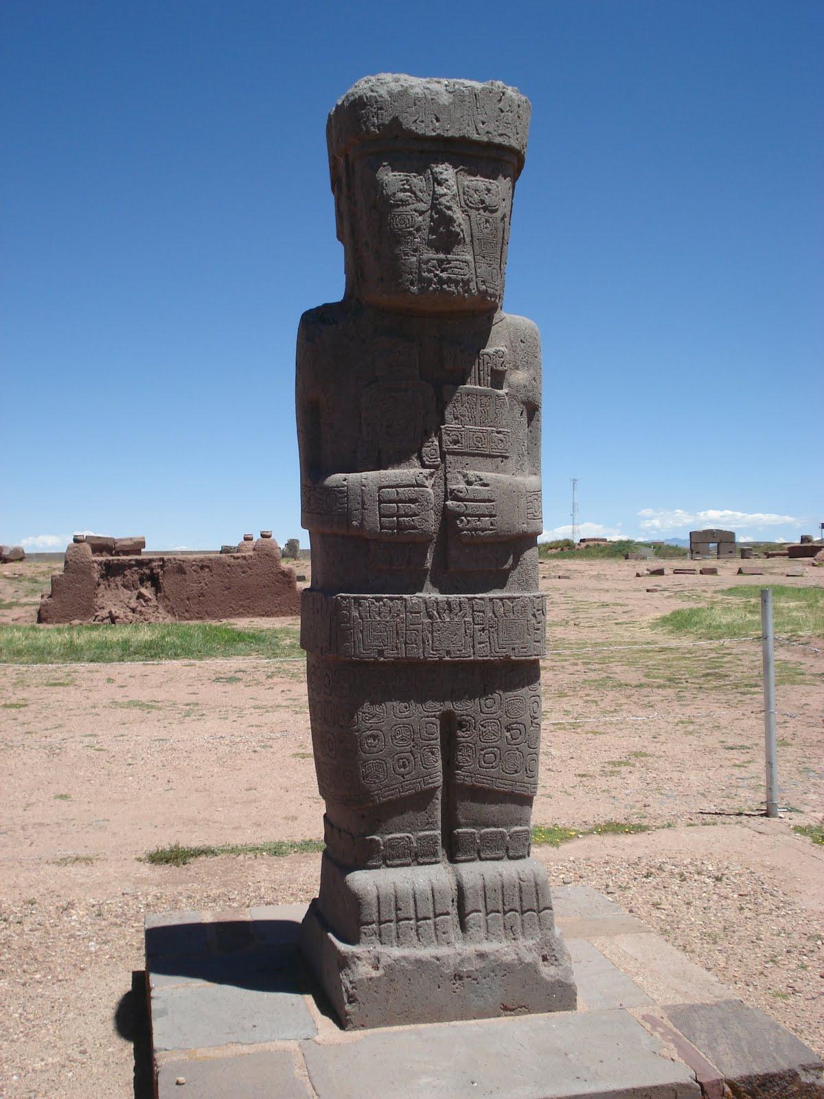 Ancient Statue Pumapunku Tiawanaku