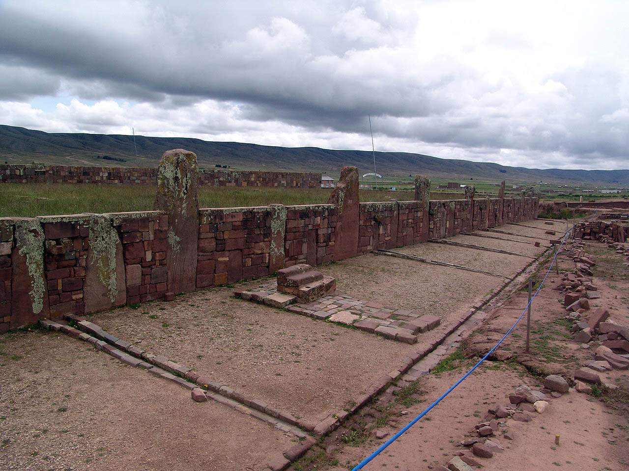 Archaeology of Bolivia at Akapana Pyramid - Tiwanaku