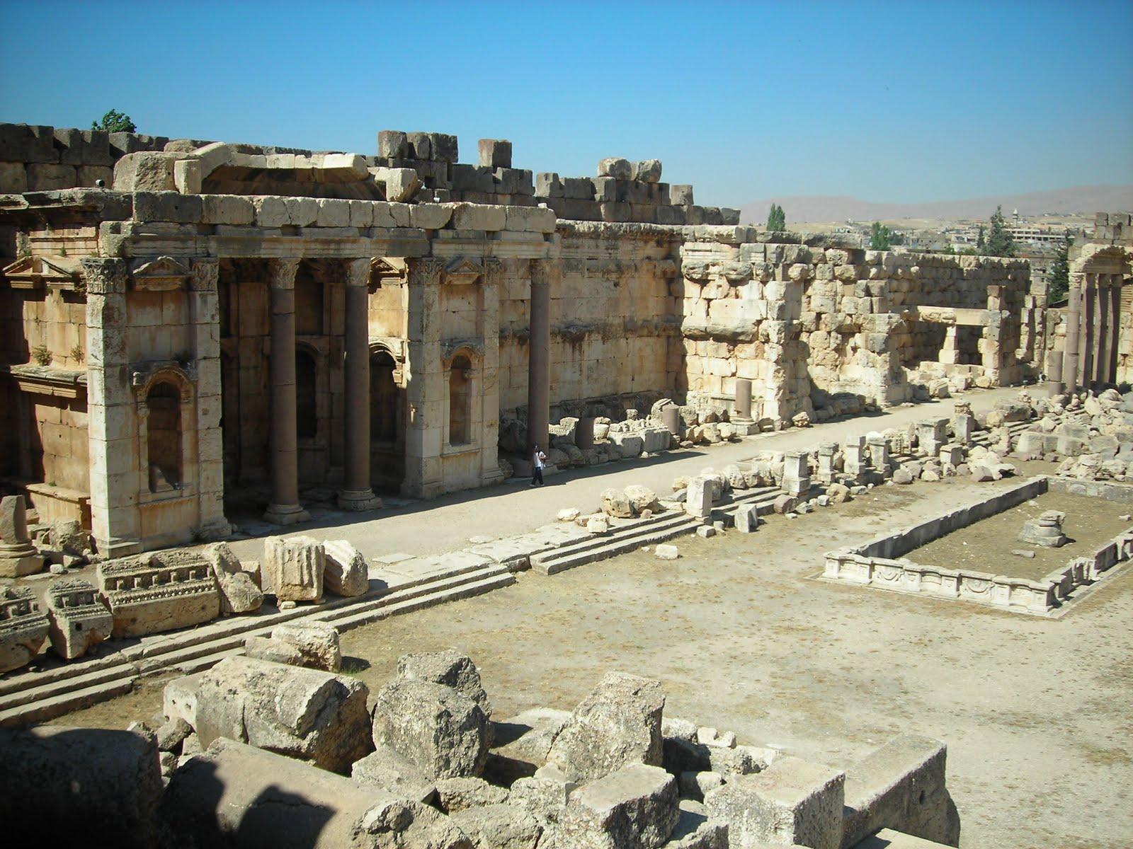 Baalbek Courtyard Ruins Devistation