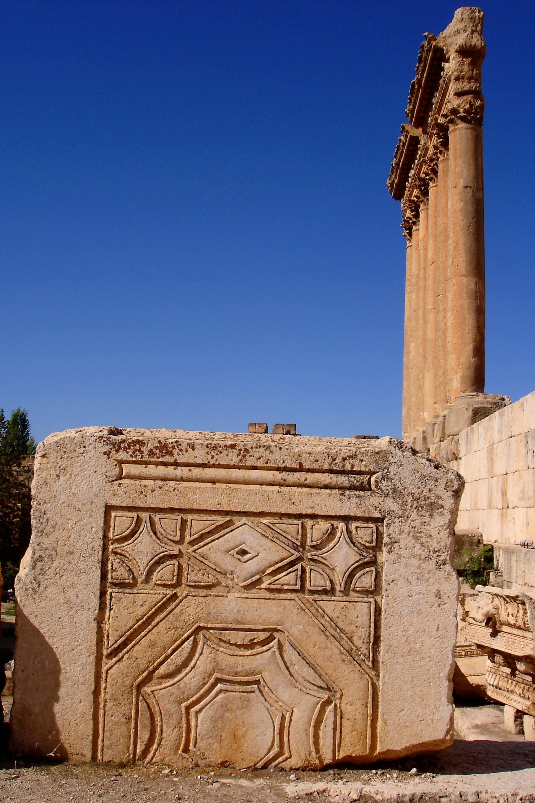 Baalbek Decorated Megalithic Strutures