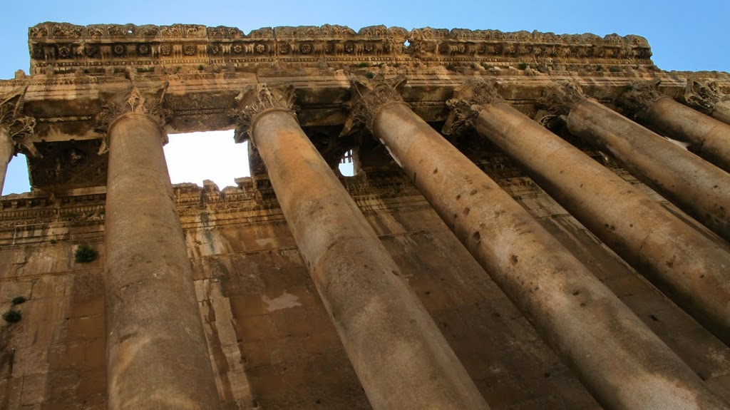 Baalbek Exterior of Bacchus Temple