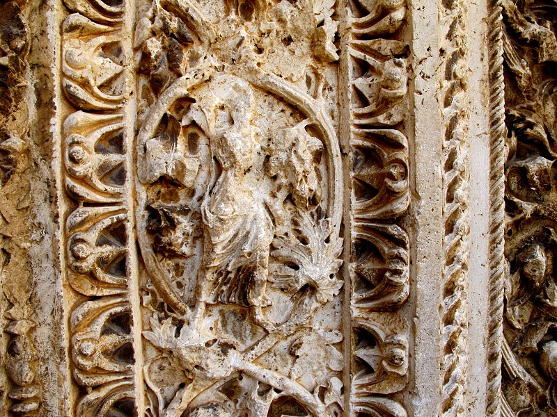 Baalbek Frieze on Entry Portal to Bacchus Temple