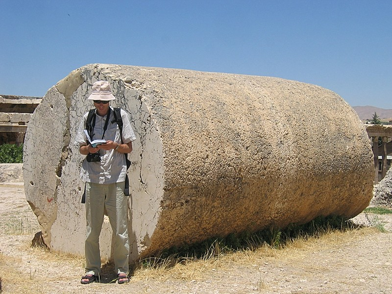 Fallen pillar segment in Balbek