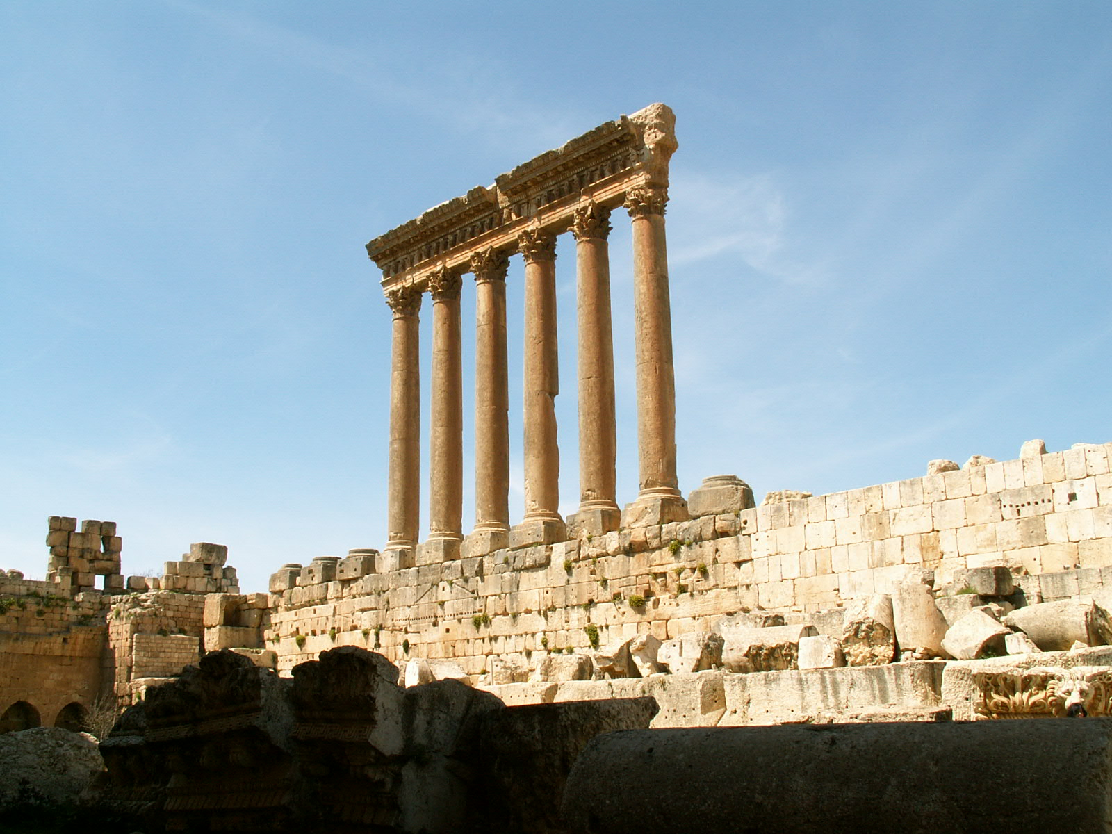 Baalbek Roman Construction at Ancient Site