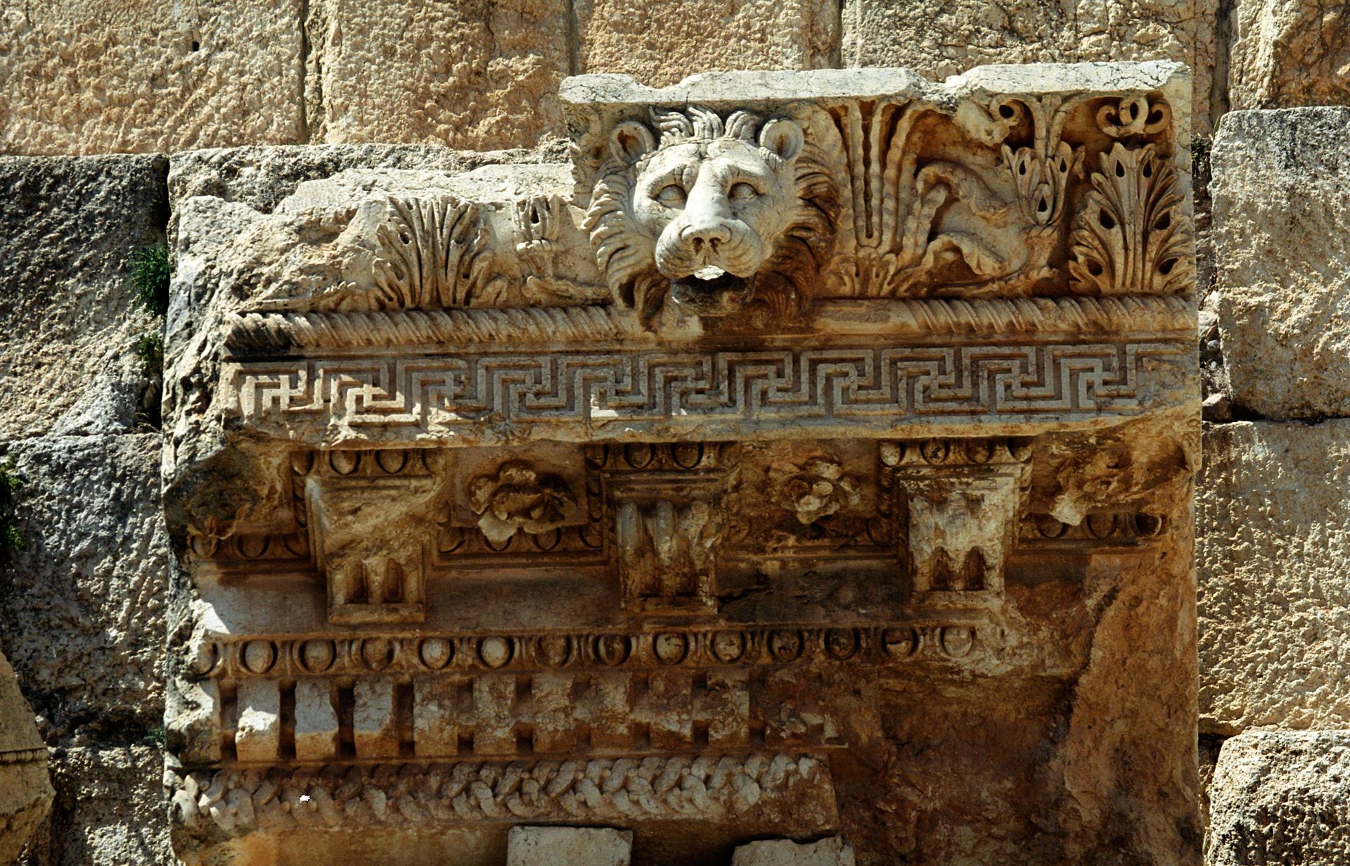 Baalbek Sacred Symbols Lion Water
