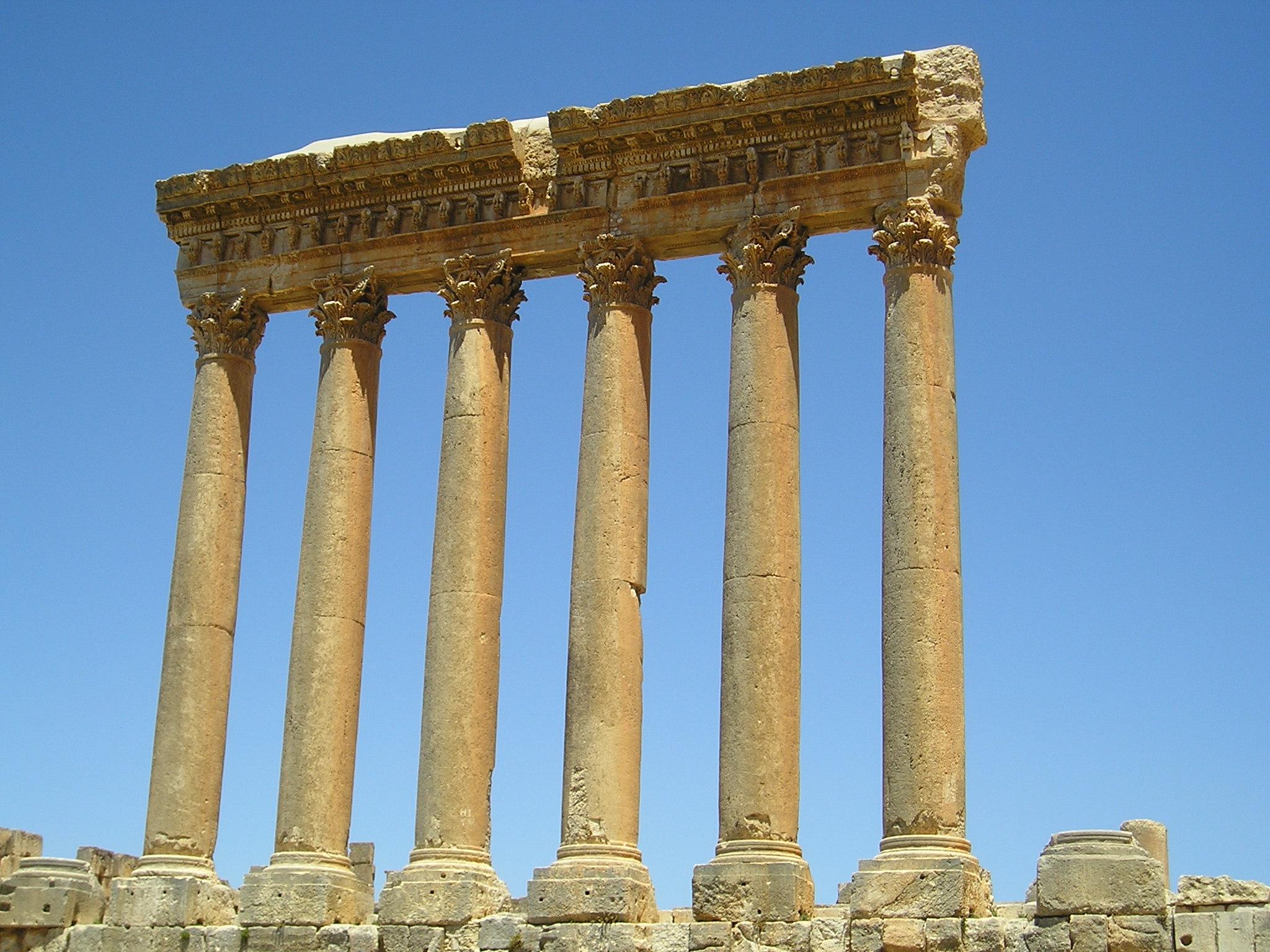 Baalbek Temple Jupiter Column Ruins