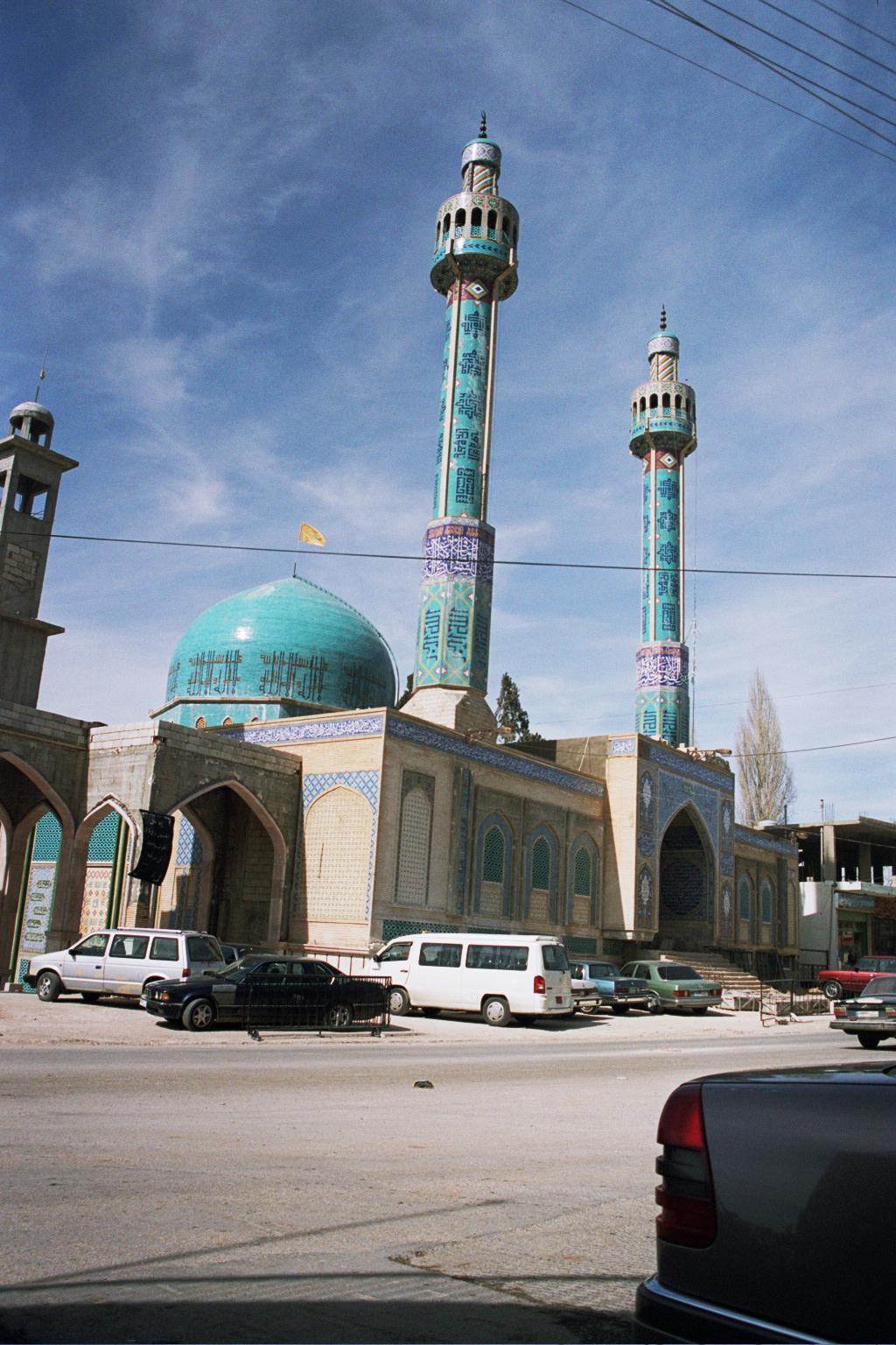 Baalbek mosque hezbollah flag