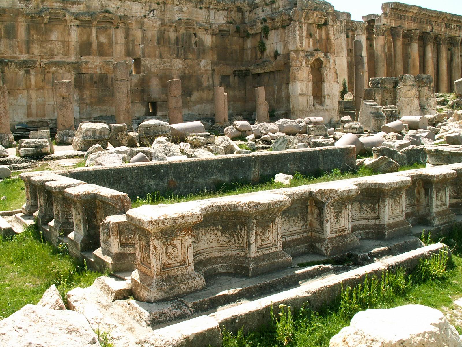 Courtyard Baalbek Lebanon