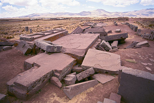 Destroyed city of Pumapunku