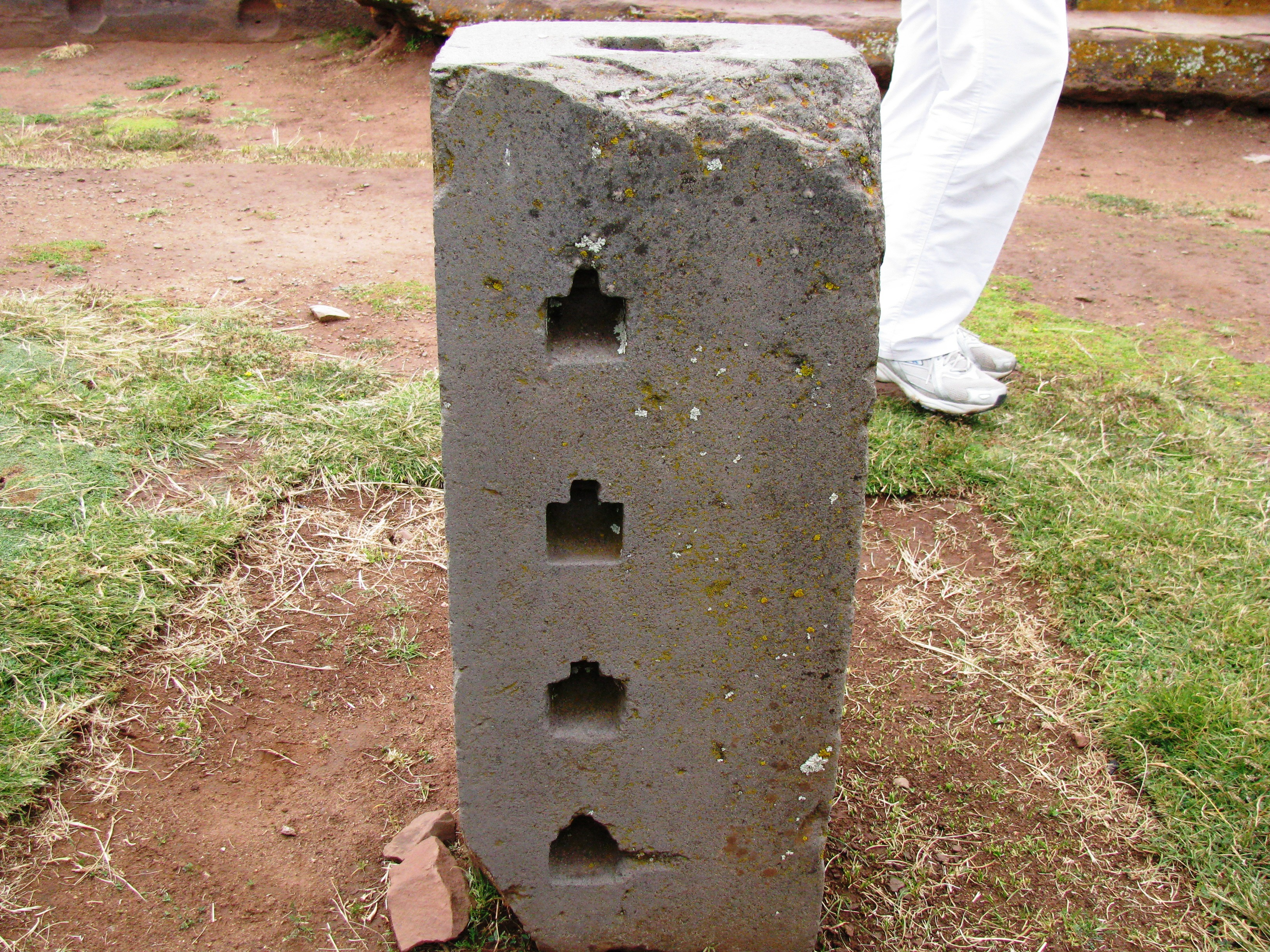 Machined holes cut into stone at Puma Punku - Ancient Mystery