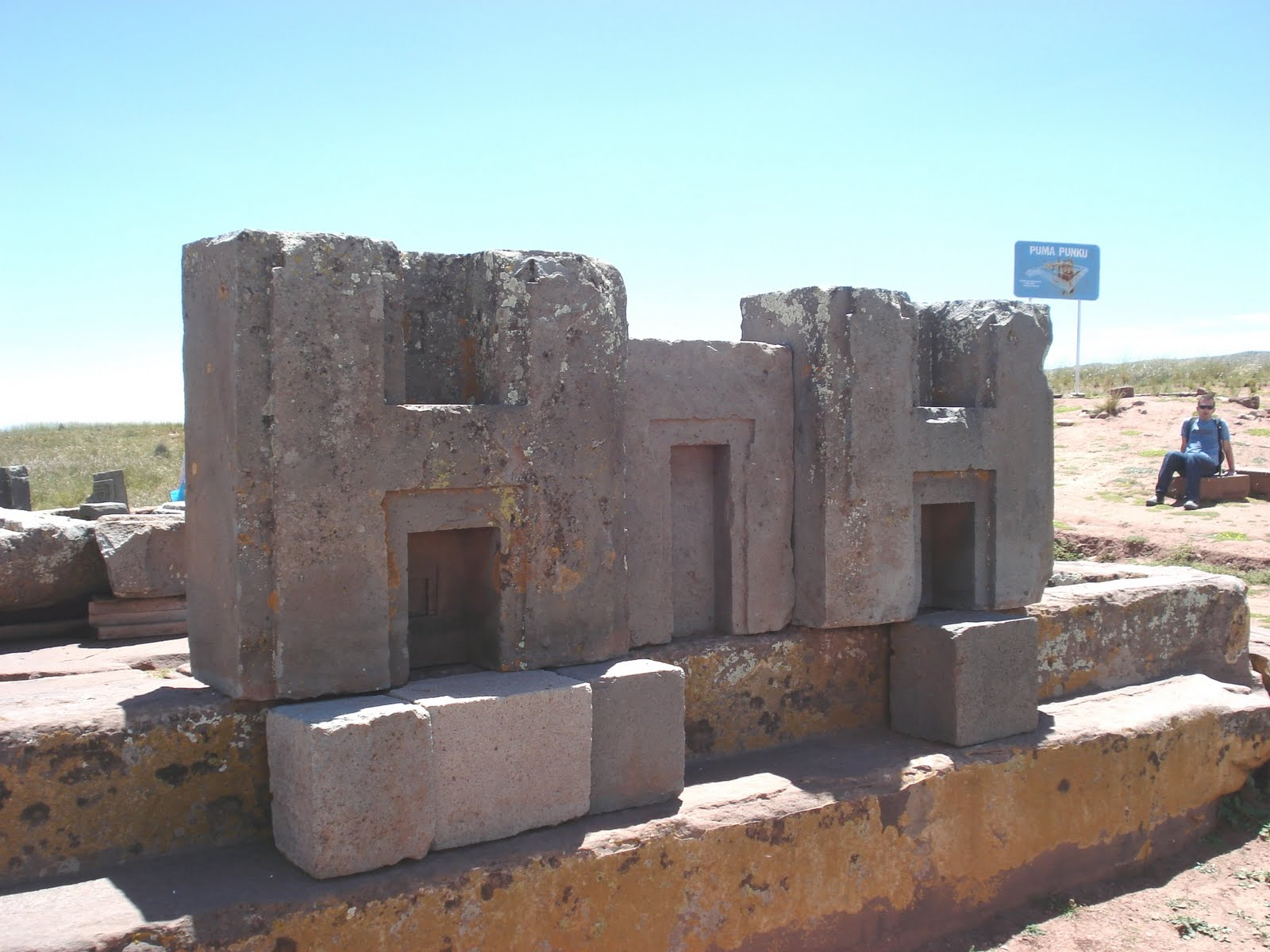Puma Punku is an ancient archaeological site in Bolivia at