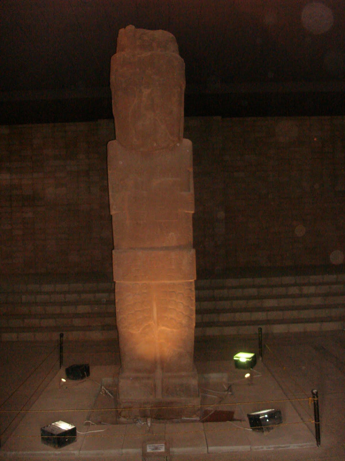Pumapunku Statue at Night