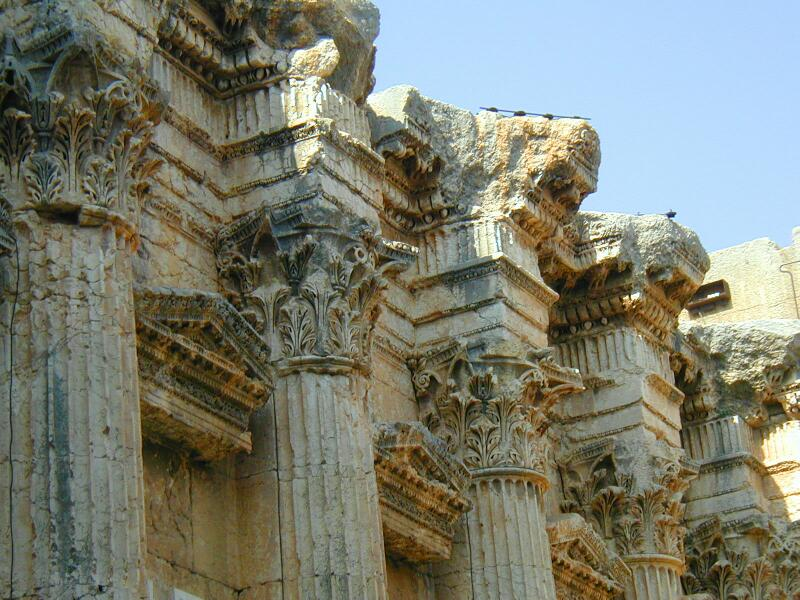 Remains of Baalbek Temple Columns