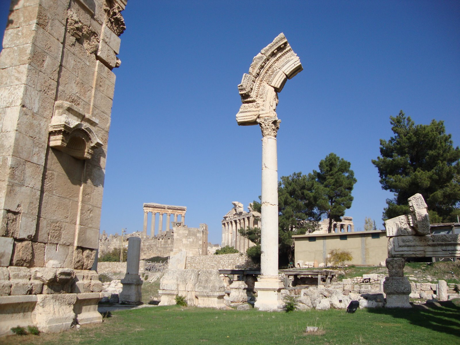 Ruins of Baalbek Courtyard