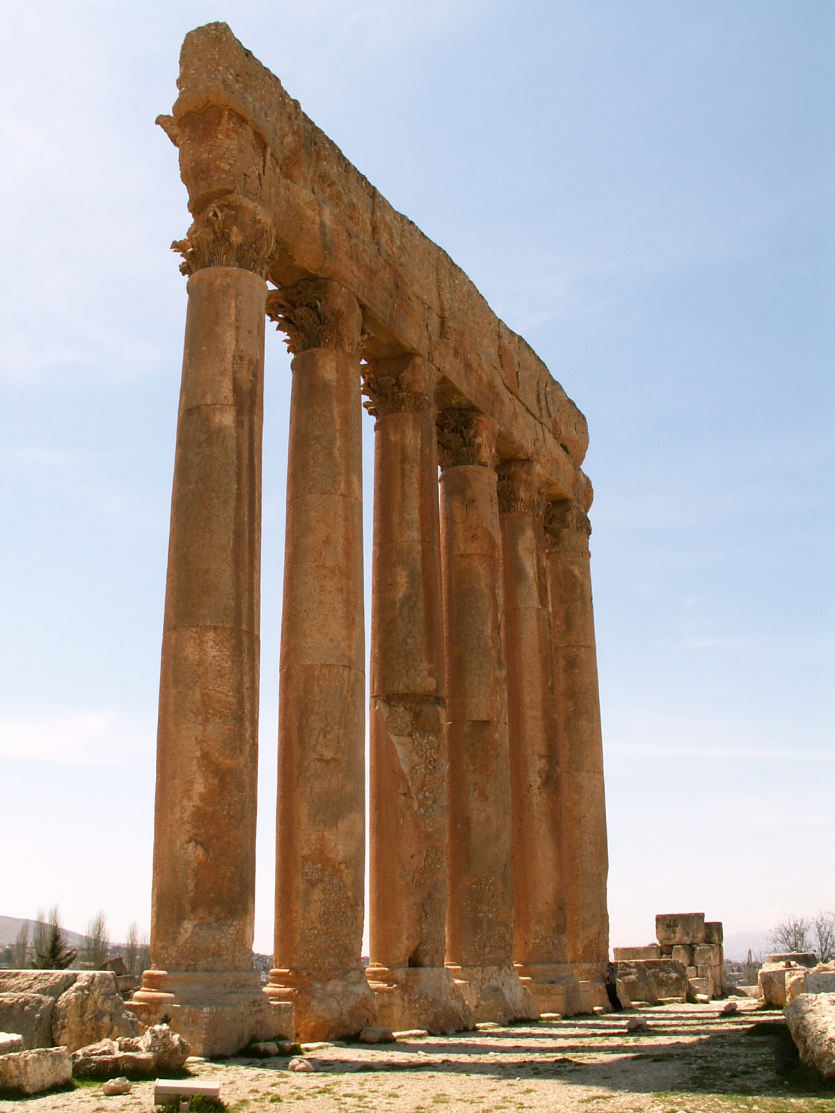 Standing Wall of Temple at Baalbek