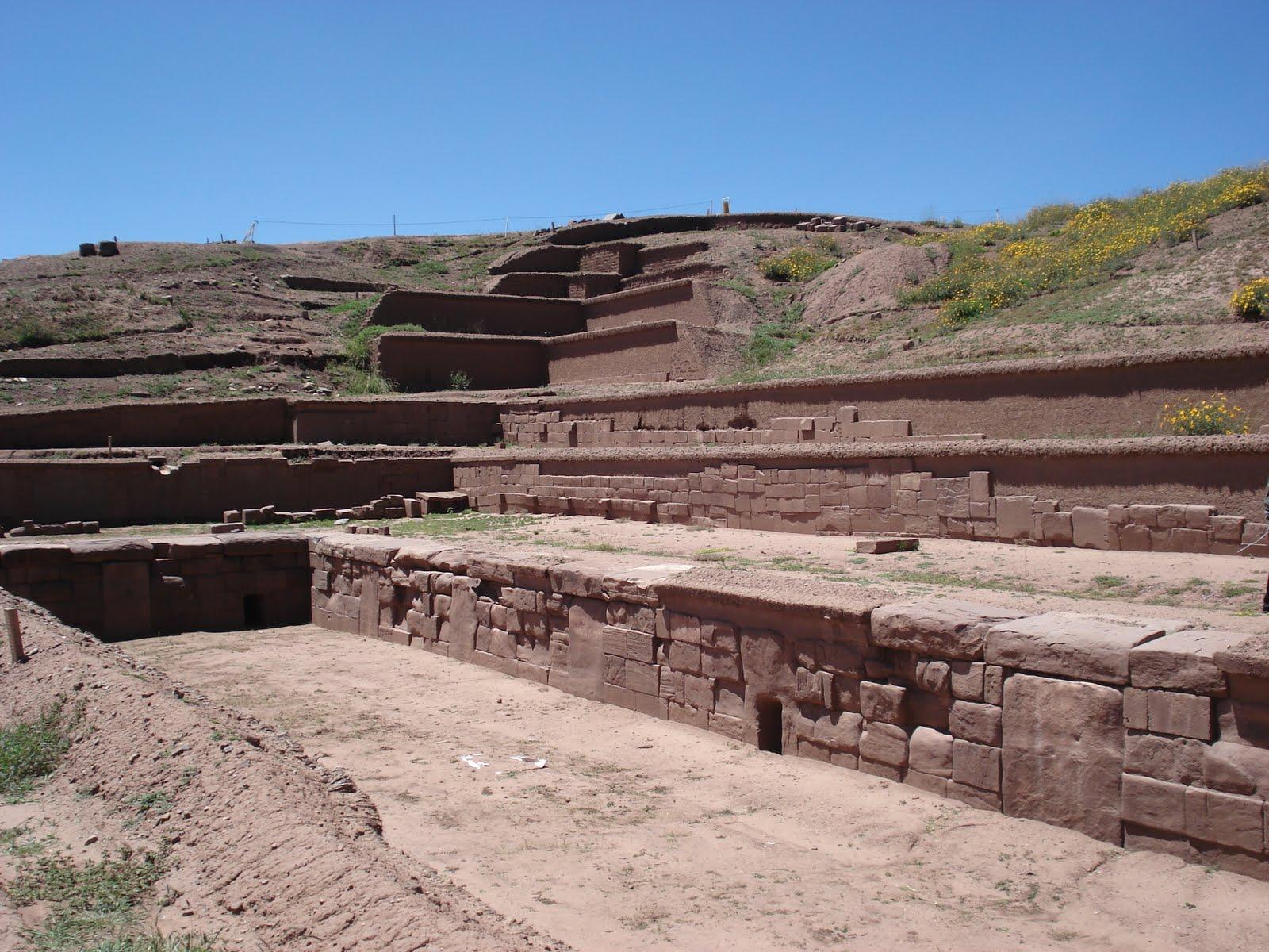 The Akapana Pyramid mound Ancient Mystery Pumapunku Tiwanaku Tiahuanaco