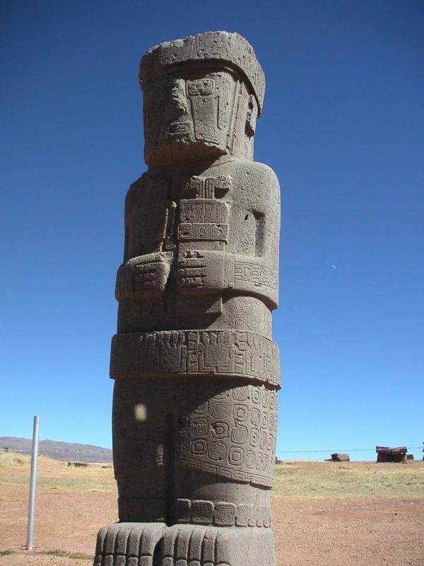 Tiahuanaco Ponce - Stone Statue at Pumapunku