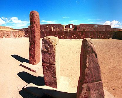 Tiahuanaco stone pillars
