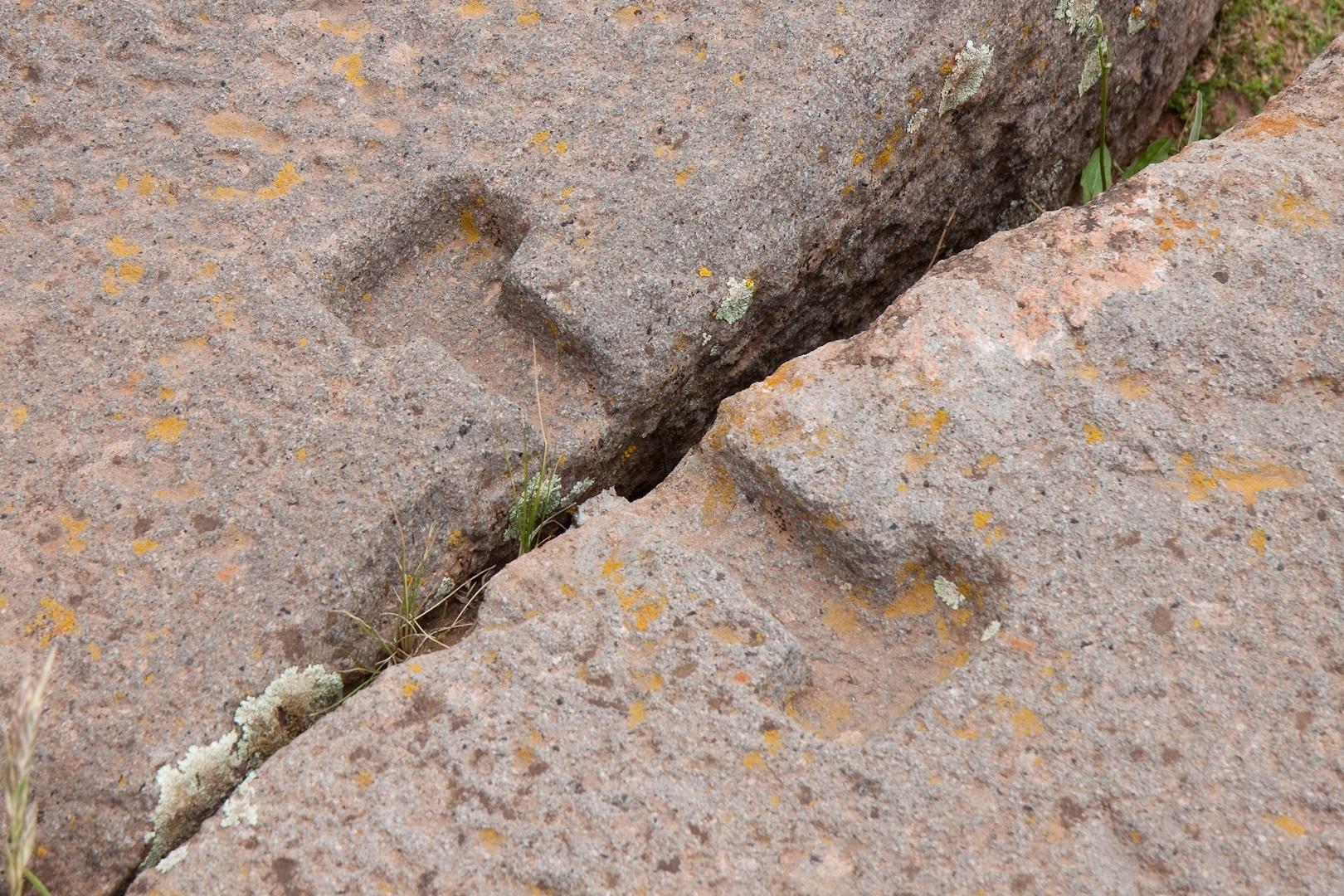 Tiwanaku Interlocking Piece between stones, Pumapunku
