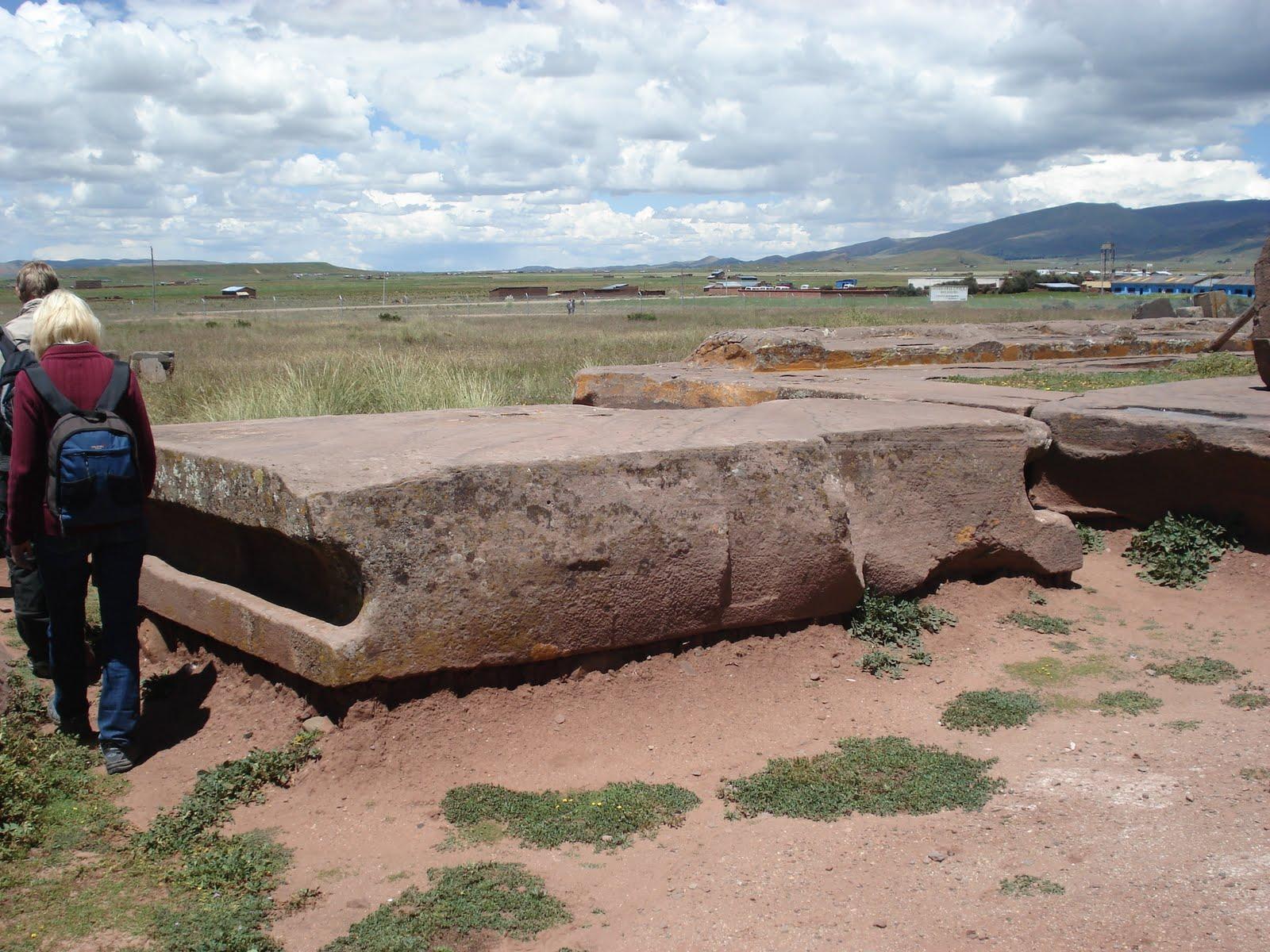 ancient mystery stone walls at Tiwanaku Puma Punku