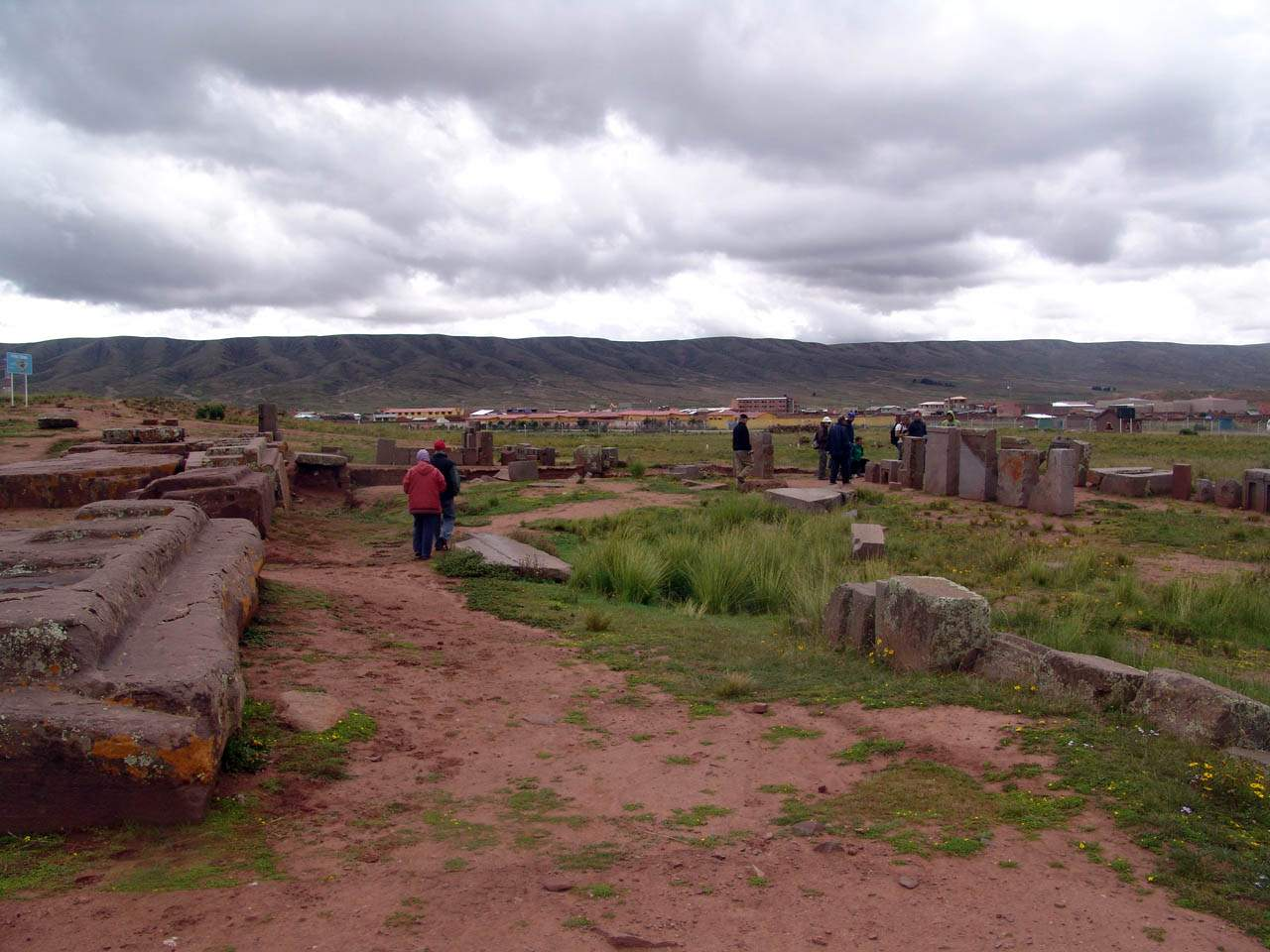 destroyed site of pumapunku megalithic structures