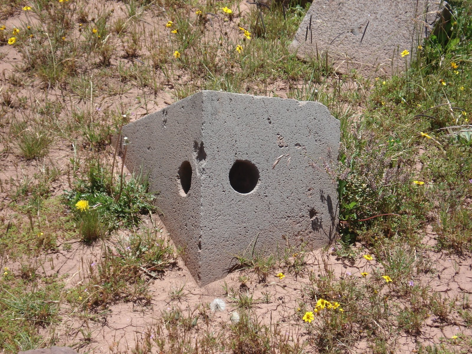 machined holes at the ruins of Puma Punku