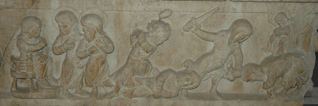 sarcophage des sts Serge et Bacchus (1179) Vérone, musée du Castelvecchio