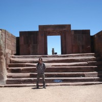 stone gated enterance at Pumapunku in Tiwanaku 200x200 Pumapunku