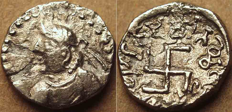Ancient Miratakhma Swastika Coin