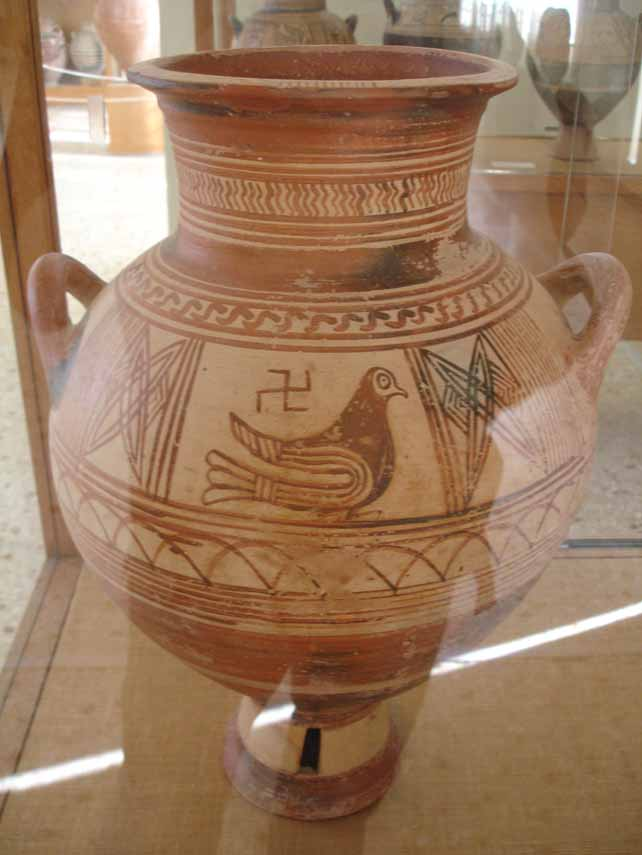 Ancient Pottery with Swastika