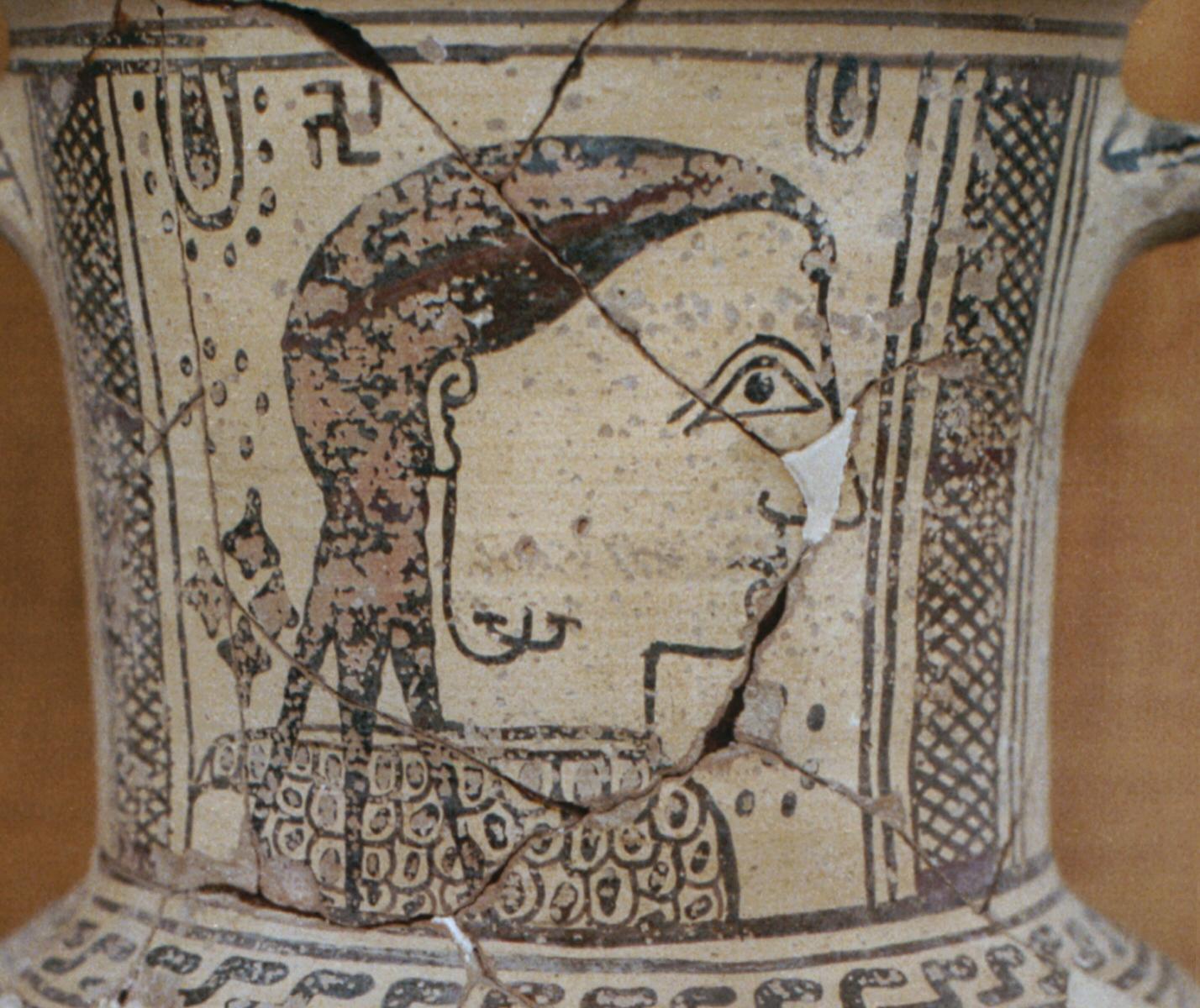 Ancient Vase with Swastika