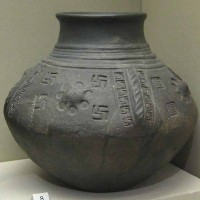 Anglo Saxon cinerary urn with swastika motifs from North Elmham Norfolk. between 5th century and 6th century 200x200 Ancient Swastika
