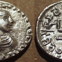 Arjuna silver drachm c. 150 165 CE 200x200 Ancient Swastika
