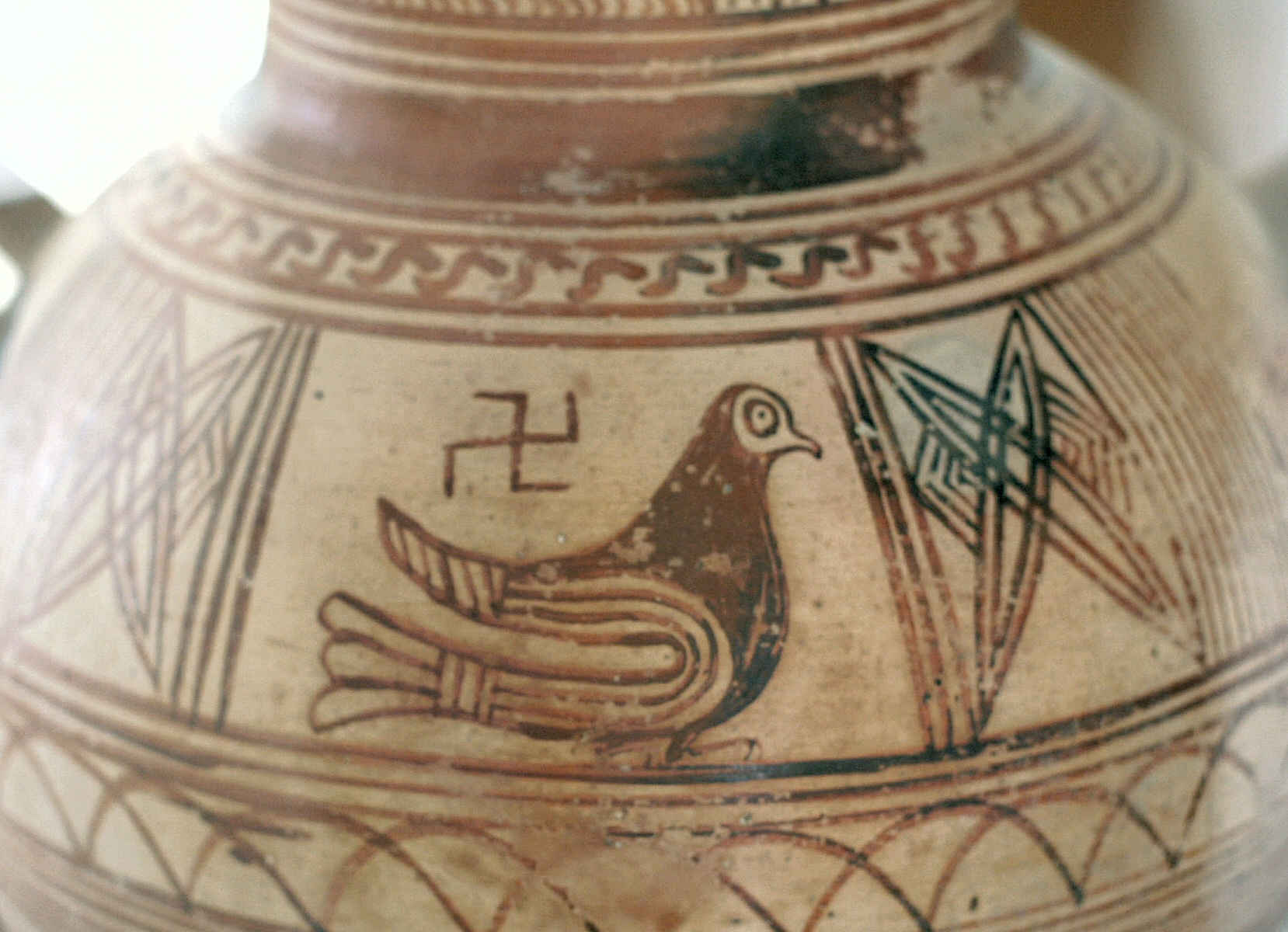Bird and Swastika - Cemetery of Ancient Thera