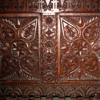 Carved chest detail Baptistry 200x200 Ancient Swastika
