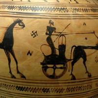 Chariot and Swastika Athens c700 BC 200x200 Ancient Swastika