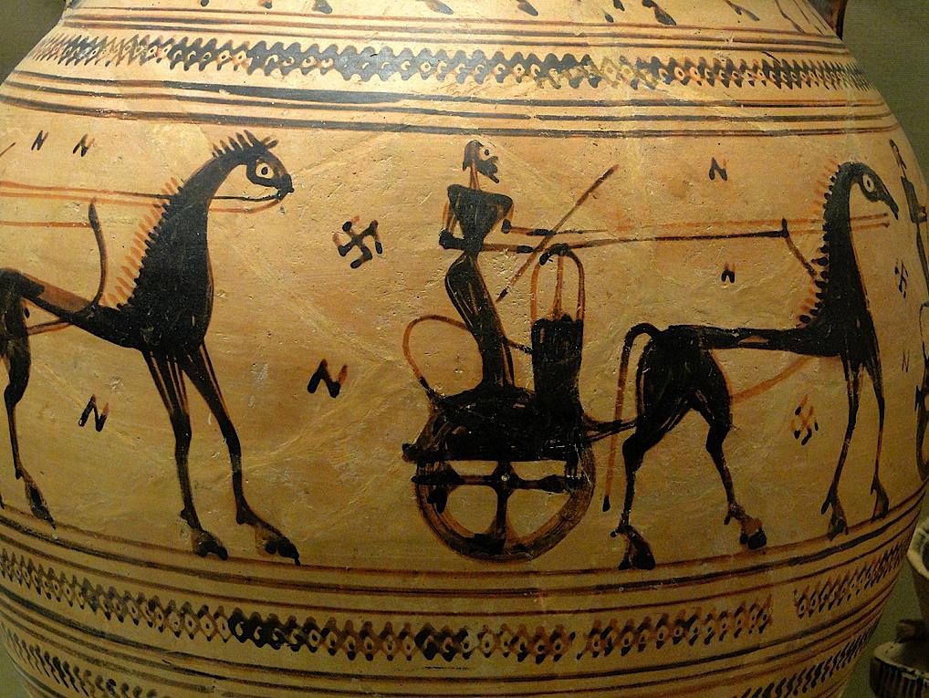 Chariot and Swastika Athens, c700 BC
