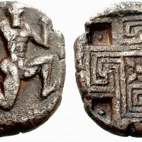 Greek Silver Stater of Knossos Crete 200x200 Ancient Swastika