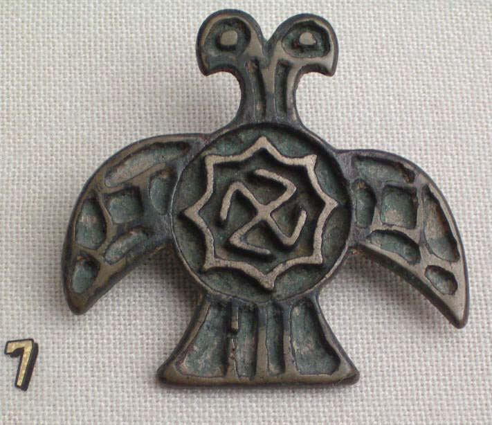 Ancient Hellenistic Thracian pin with Swastika Symbol