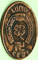 Lucky Cent Swastika (Indian Head Penny 1908)