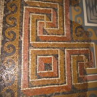Mosaic Labyrinth Pattern 200x200 Ancient Swastika