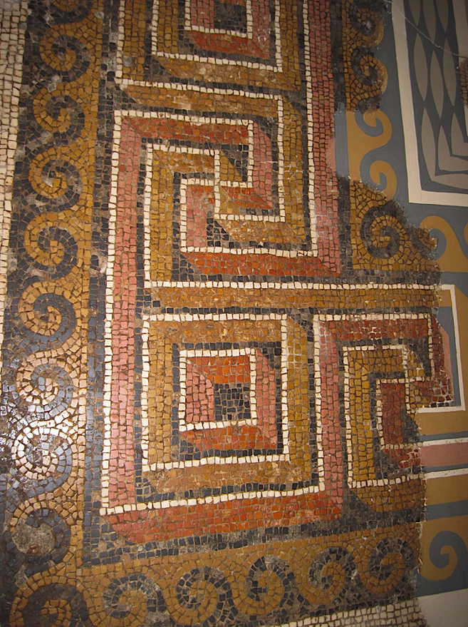 Mosaic Labyrinth Pattern