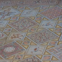 Mosaic at Church of St. George Jerash 200x200 Ancient Swastika