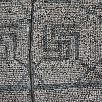 Mosaic in Salona Solin 200x200 Ancient Swastika