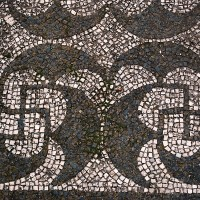 Mosaic with swastika Ostia Antica 200x200 Ancient Swastika