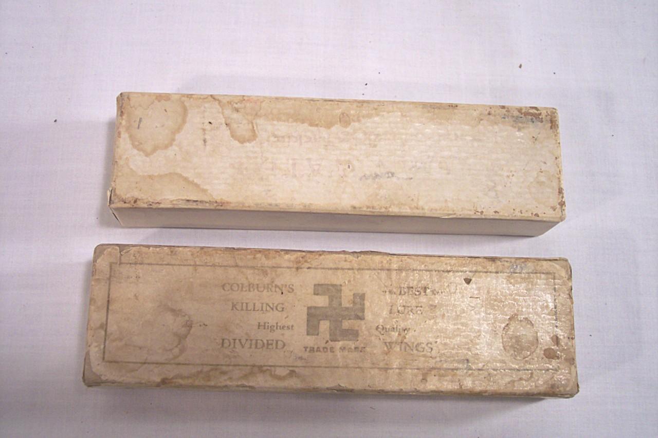 Old Swastika Symbol on Box