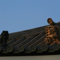 Roof detail at Senso Ji Temple Japan 200x200 Ancient Swastika