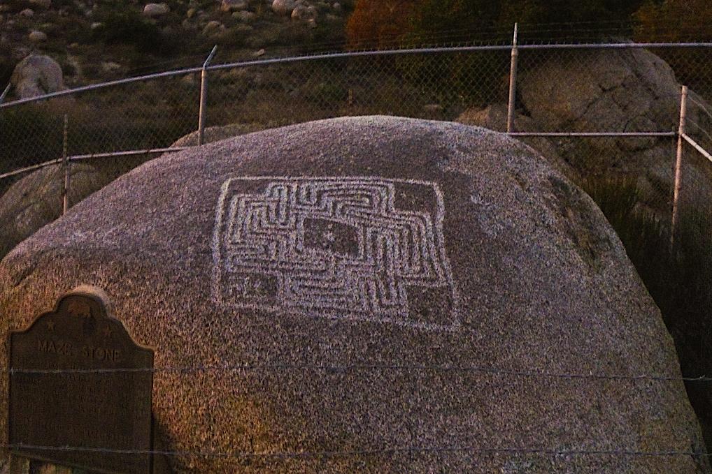 Shaman Maze Stone Petroglyph in Hemet