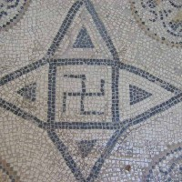Swastika from Roman mosaic II cent. A. D 200x200 Ancient Swastika