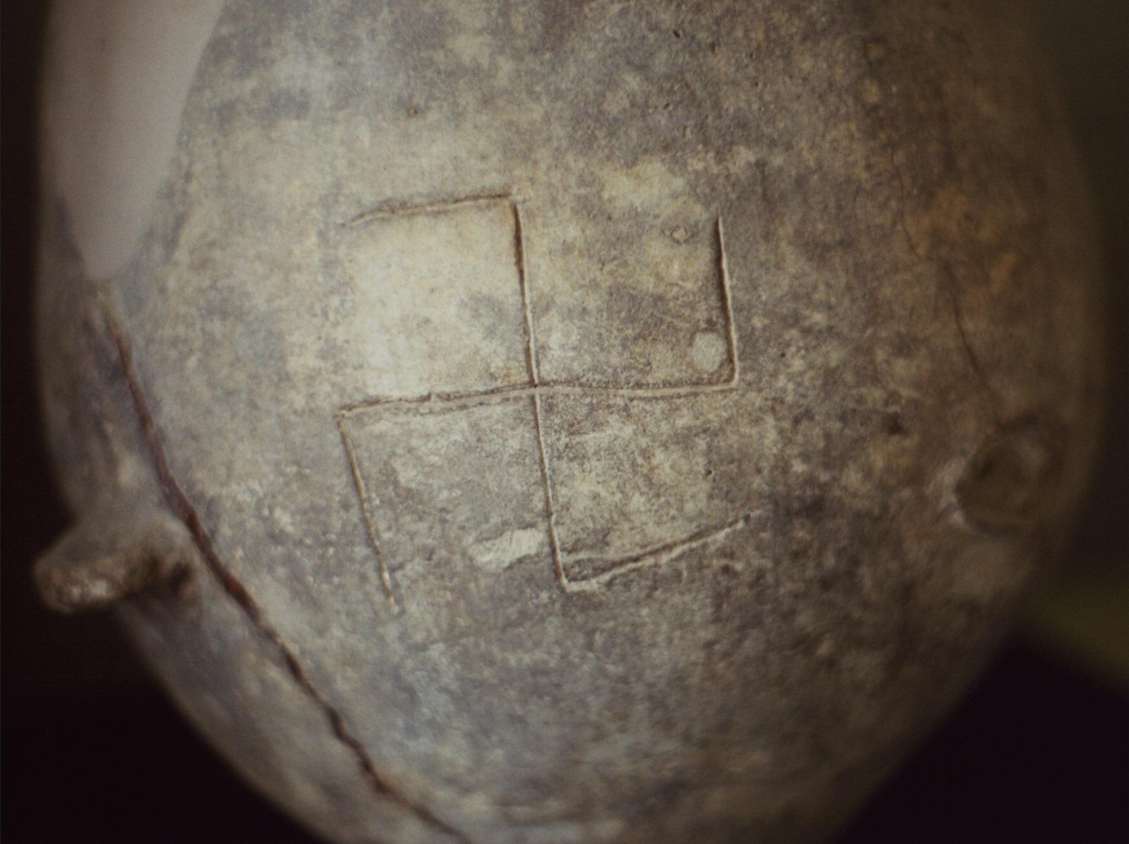 Swastika on ancient vessel